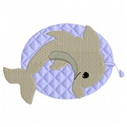 Dolphin Circle embroidery design