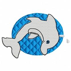 Dolphin Plain embroidery design