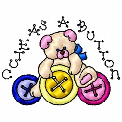 Cute Button embroidery design