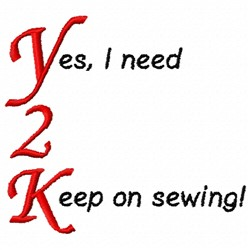 Keep On Sewing embroidery design