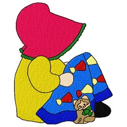 Girl Quilt embroidery design