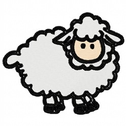 Small Sheep embroidery design