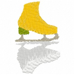 Ice Skate Shadow embroidery design