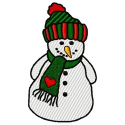 Heart Snowman embroidery design