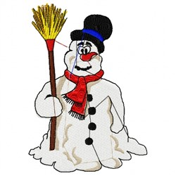 Melting Snowman embroidery design