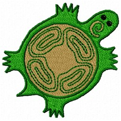 Southwestern Turtle embroidery design
