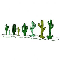 Cactus Row embroidery design