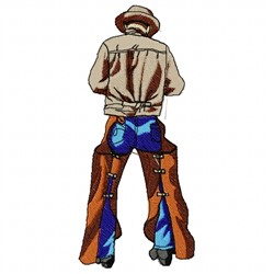 Cowboy Backside embroidery design