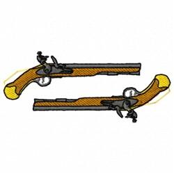 Duel Guns embroidery design