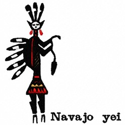 Navajo Yei embroidery design
