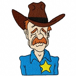 Western Sheriff embroidery design