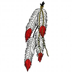 Feathers Beads embroidery design