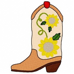 Floral Boot embroidery design