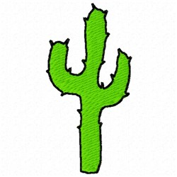Saguaro Cactus embroidery design