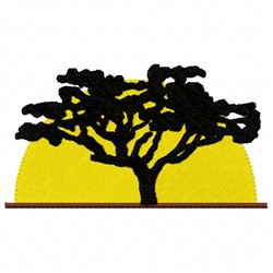 Tree Sunset embroidery design