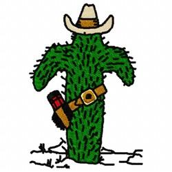 Cactus Cowboy embroidery design