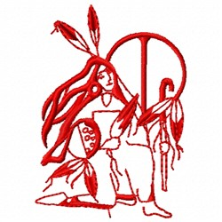 Feather Woman embroidery design