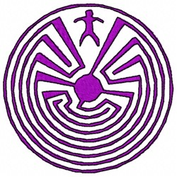 Maze Man embroidery design