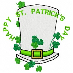 St Pattys Day Hat embroidery design
