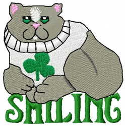 Smiling Cat embroidery design