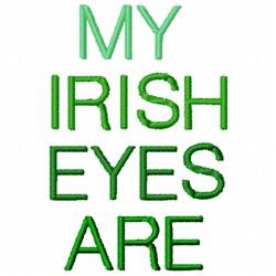 Irish Eyes embroidery design