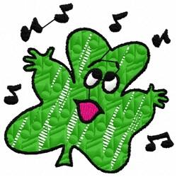 Singing Shamrock embroidery design