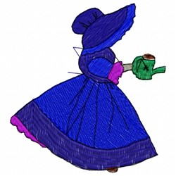 Garden Woman embroidery design