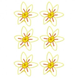 Many Flowers embroidery design