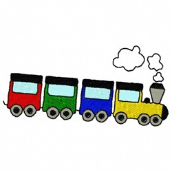 Small Train embroidery design