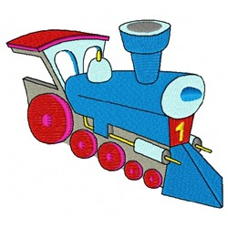 Blue Train embroidery design