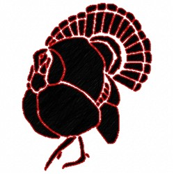 Turkey Stencil embroidery design
