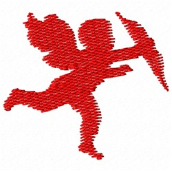 Cupid Silhouette embroidery design