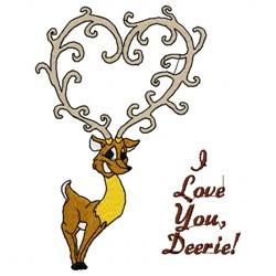 Deer Heart embroidery design