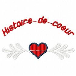 Histoire de Coeur embroidery design