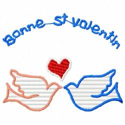 Bonne Valentine embroidery design