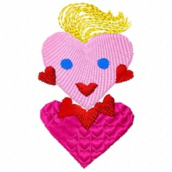 Heart Woman embroidery design