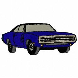 Blue Car embroidery design
