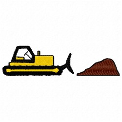 Construction Bulldozer embroidery design