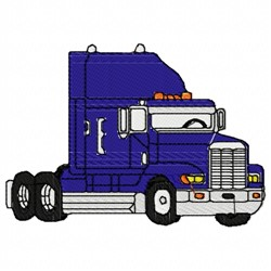 Semitruck Cab embroidery design