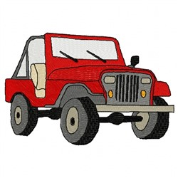 Big Jeep embroidery design