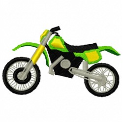 Green Dirtbike embroidery design