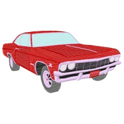 Red Car embroidery design