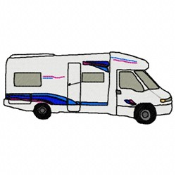 Mobile Home embroidery design