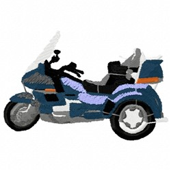 Motorcycle Tricycle embroidery design