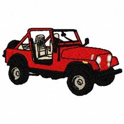 Jeep Wrangler embroidery design