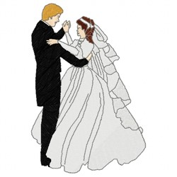 Wedding Dance embroidery design