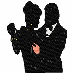 Silhouette Dance embroidery design