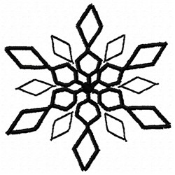 Diamond Snowflake   embroidery design