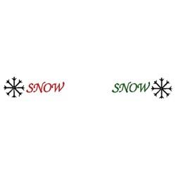 Snow Border embroidery design