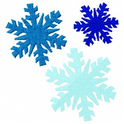 Snow Snowflakes embroidery design
